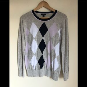 NWOT J.Crew Argyle lightweight sweater